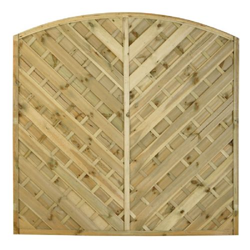 Windsor Bow Top Fence Panel